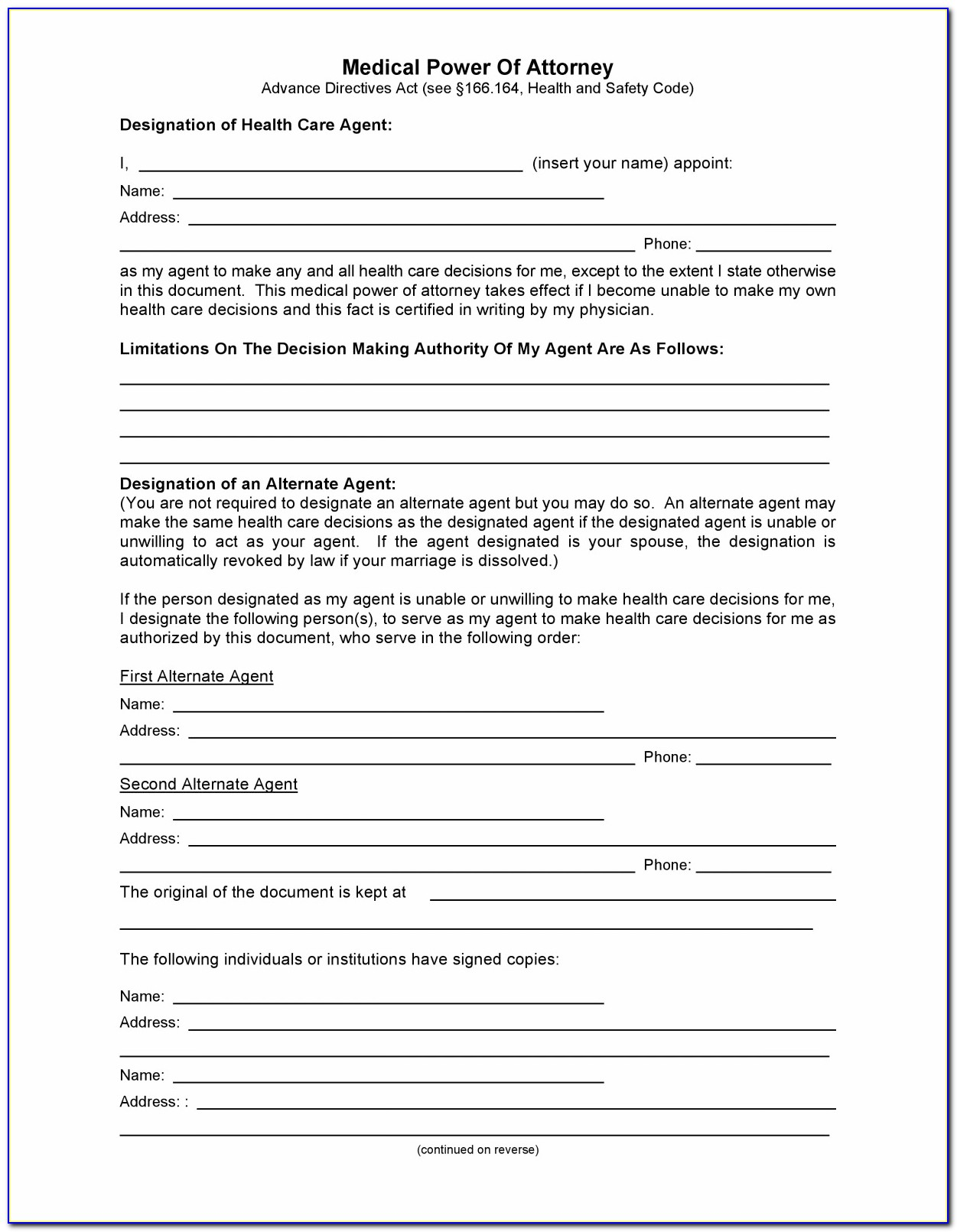 Power Of Attorney Form New Mexico