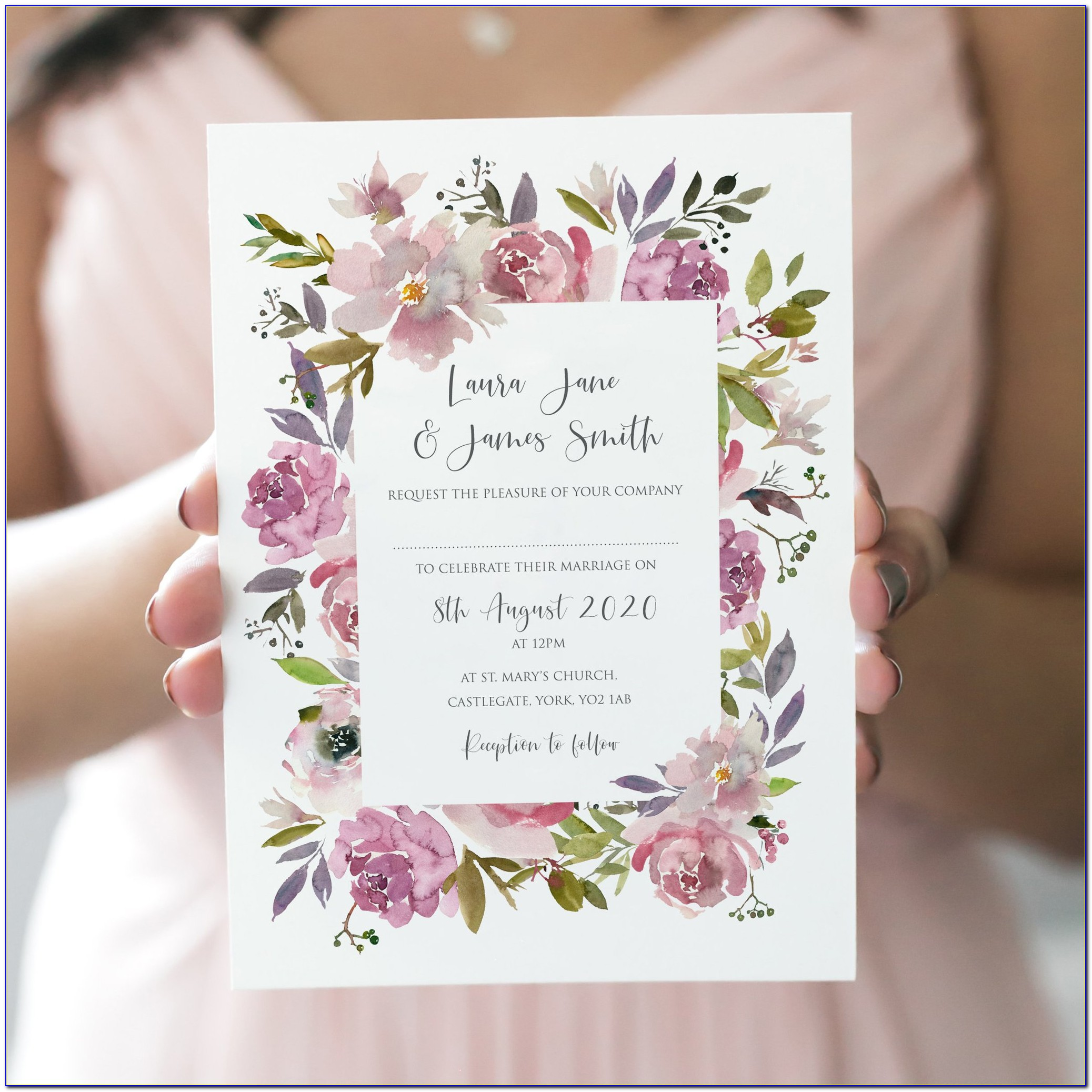 Dusty Rose Baby Shower Invitations