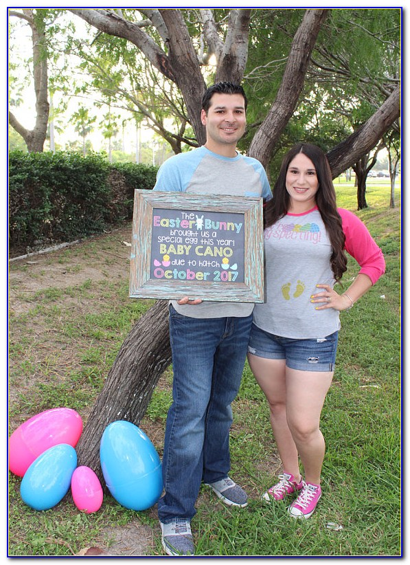 Easter Egg Baby Announcement
