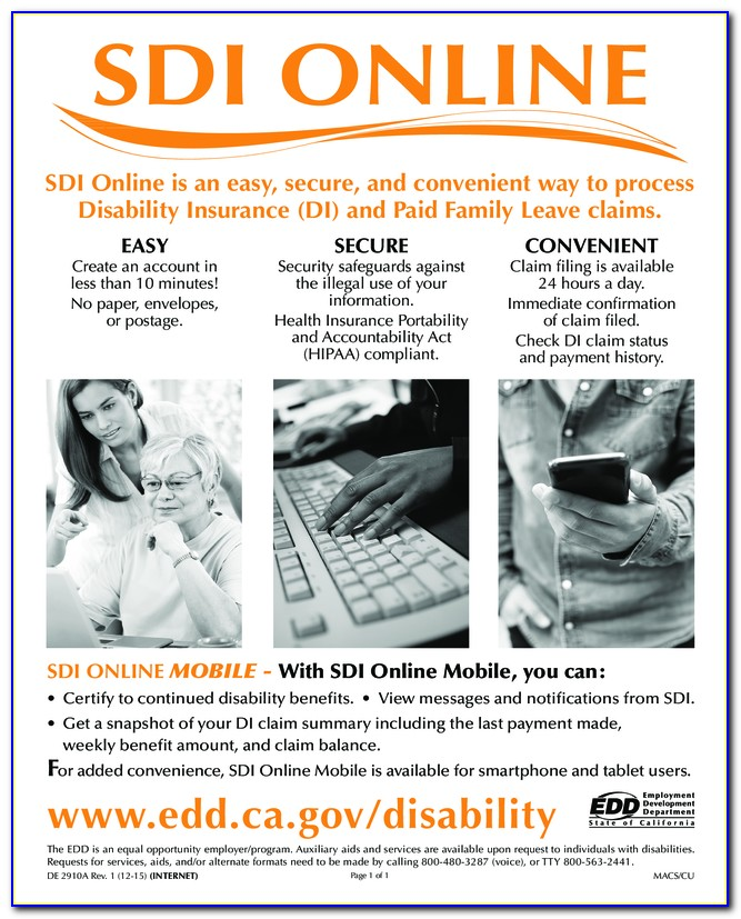 Edd Disability Continued Claim Certification Form