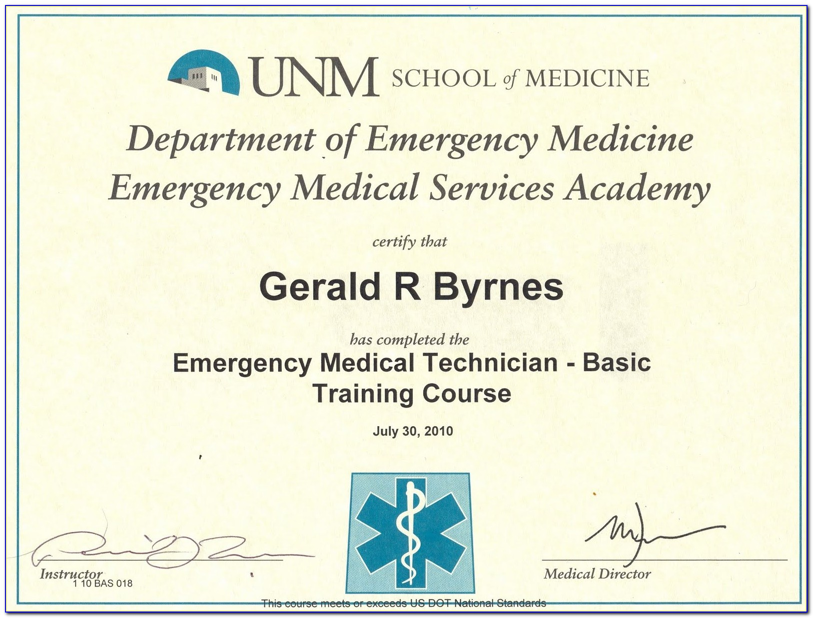 Emt Certification New Mexico