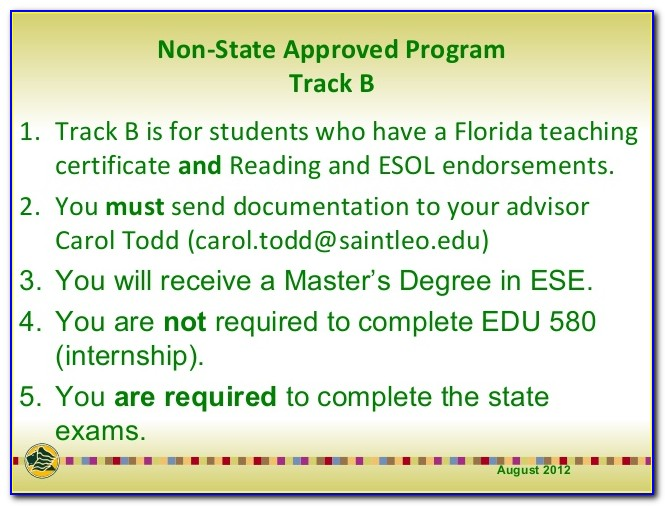 Ese Certification Exam Florida