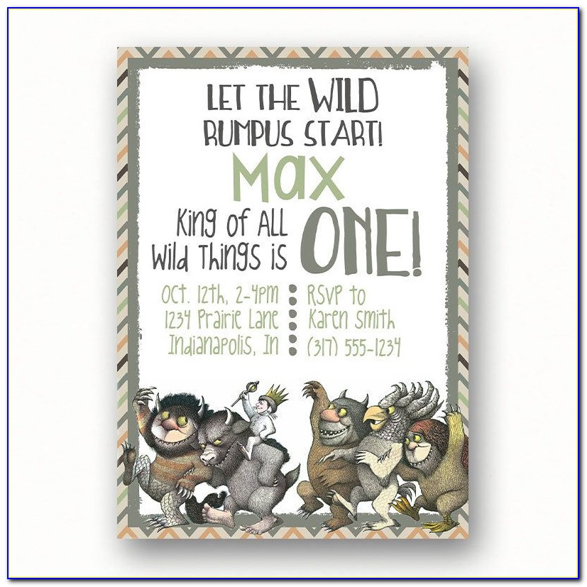 Etsy Where The Wild Things Are Invitations