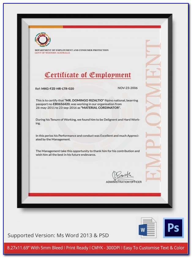 Example Certificate Of Insurance Acord Form