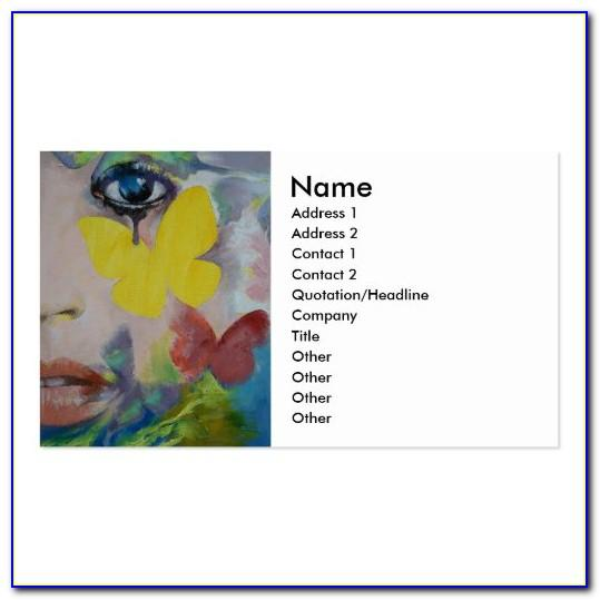 Face Painting Business Card Ideas