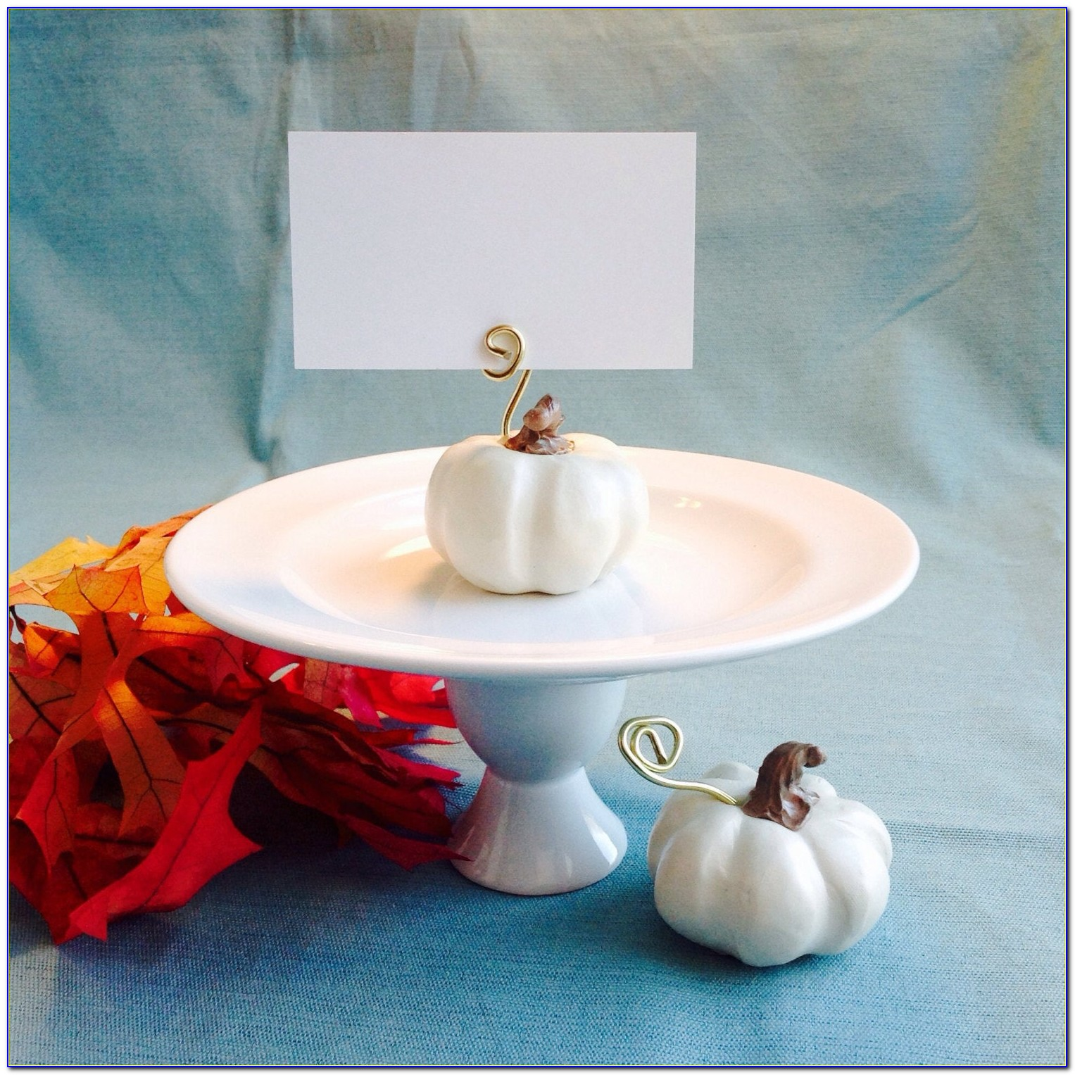 Fall Wedding Place Card Holders