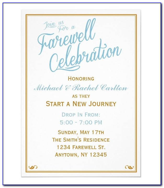 Farewell Lunch Invitation Sample Email