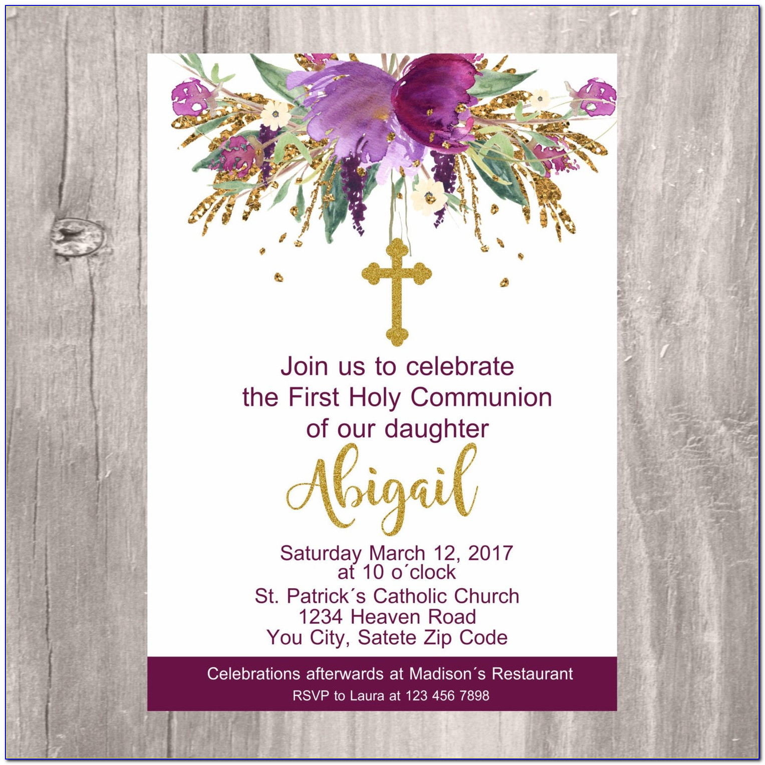 First Holy Communion Invitation Images