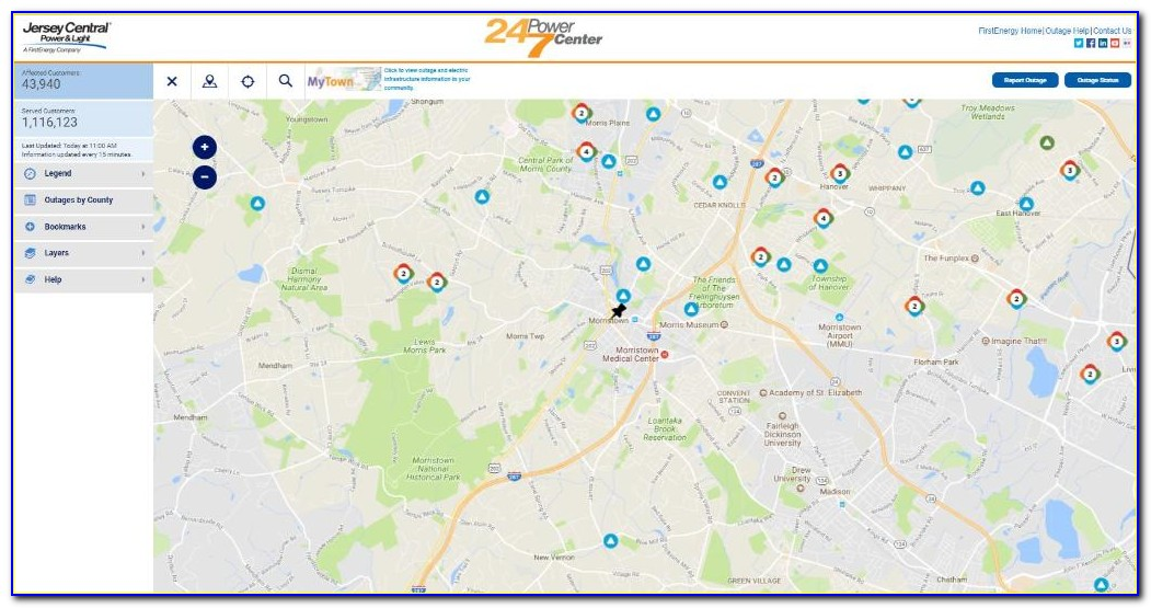 Firstenergy Nj Power Outage Map