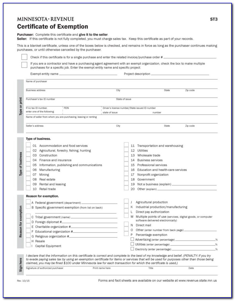 Florida Sales Tax Exemption Certificate Agriculture