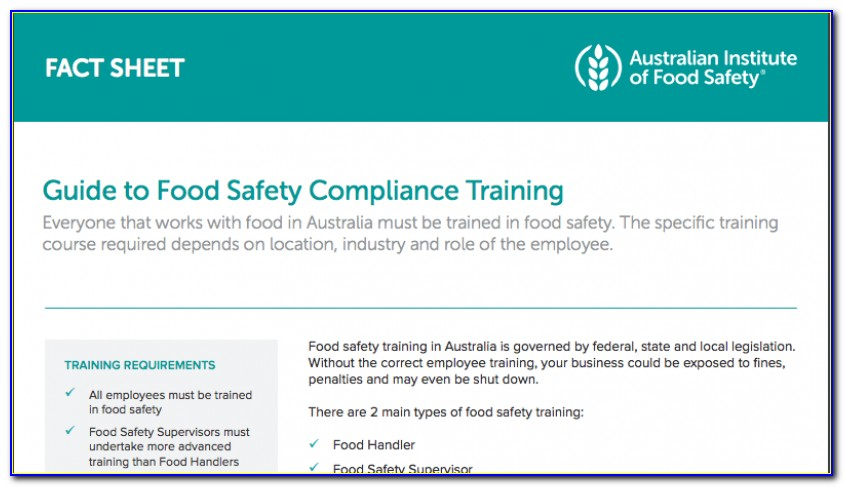 Food Handlers Course Nsw