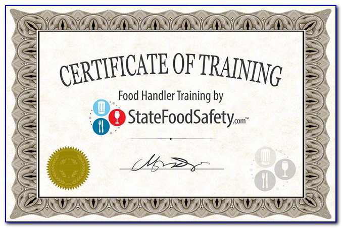 Food Safety And Sanitation Certification Illinois
