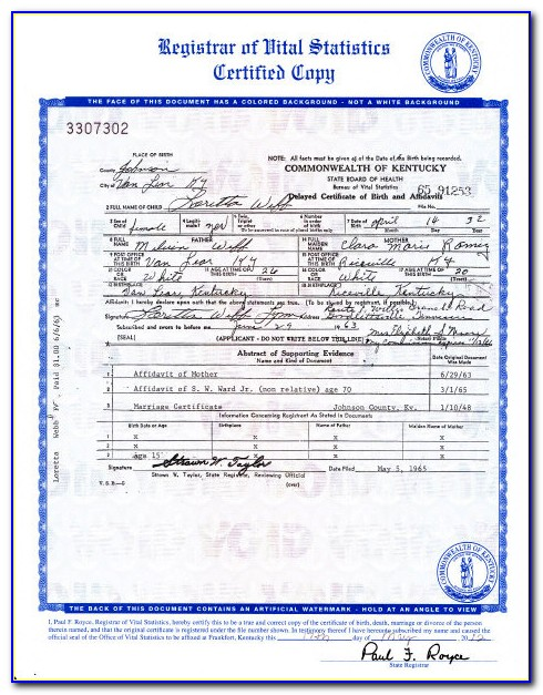 Frankfort Ky Birth Certificate Office