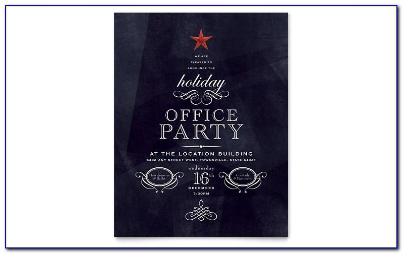 Free Christmas Party Invitation Template Publisher