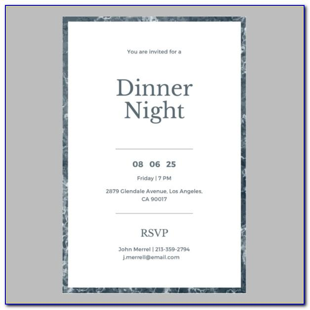 Free Dinner Party Invitation Template