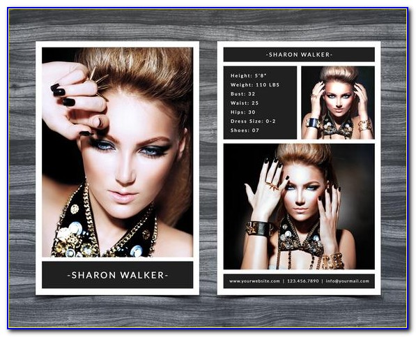 Free Model Comp Card Template