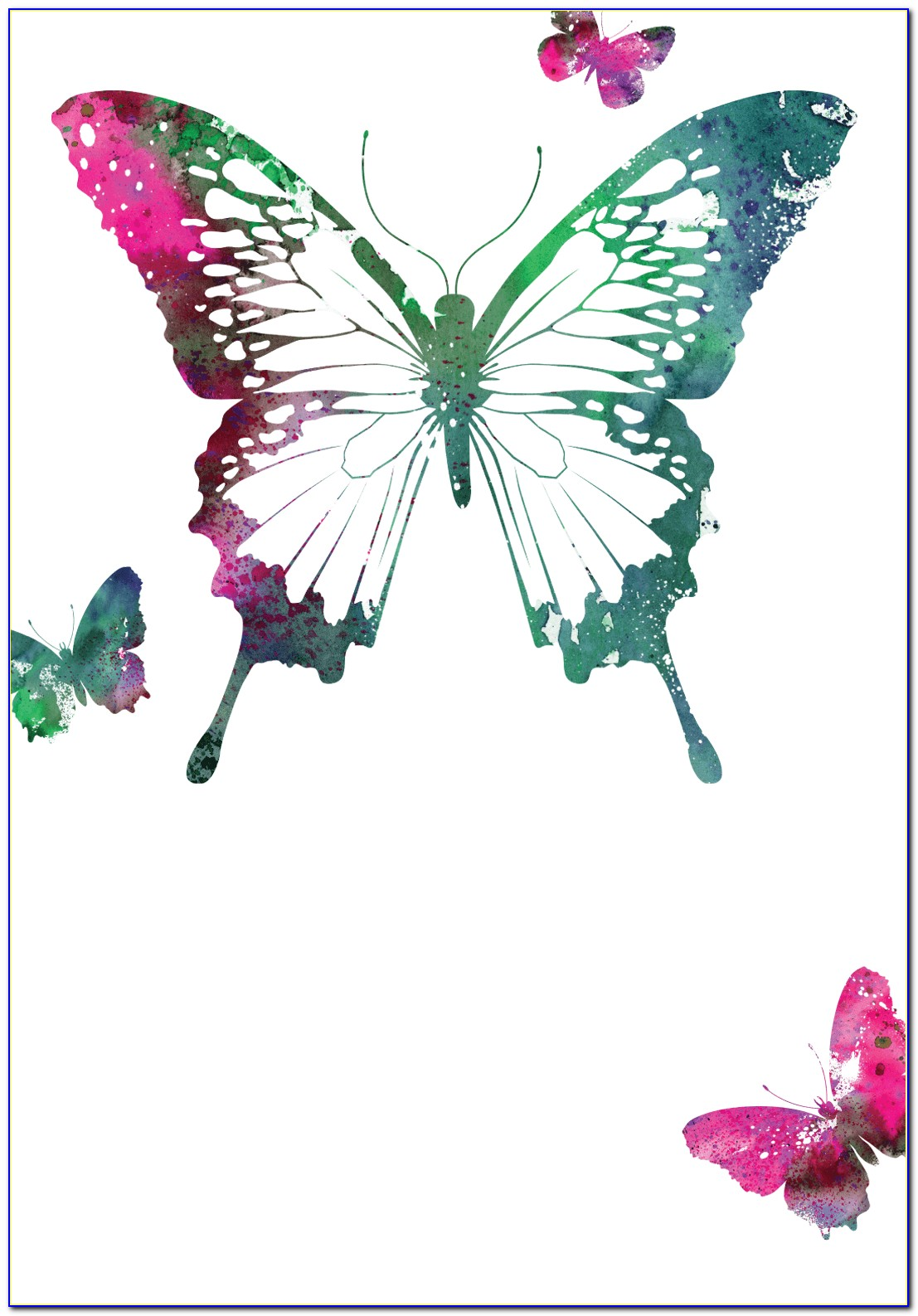 Free Online Butterfly Invitations