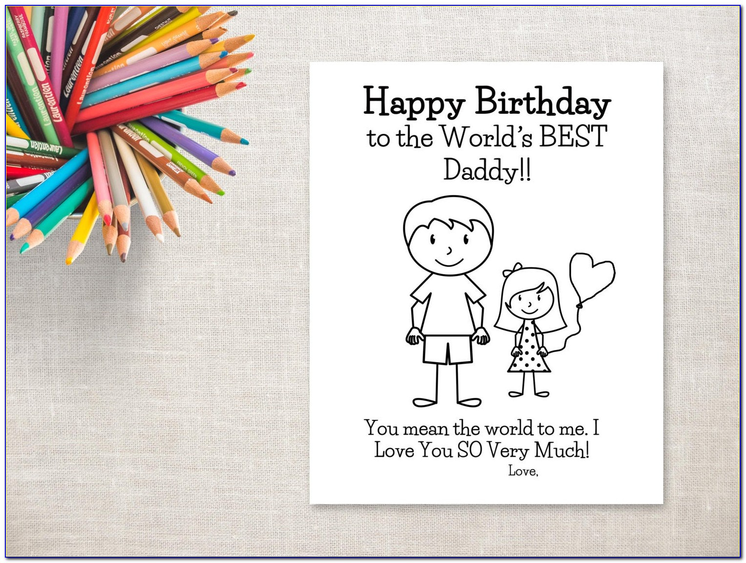 Free Printable Birthday Cards For Dad From Daughter