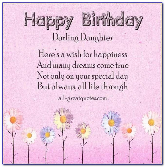 Free Printable Birthday Cards For Daughter From Mom