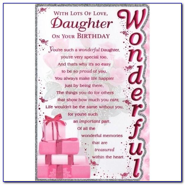 Free Printable Birthday Cards For My Daughter