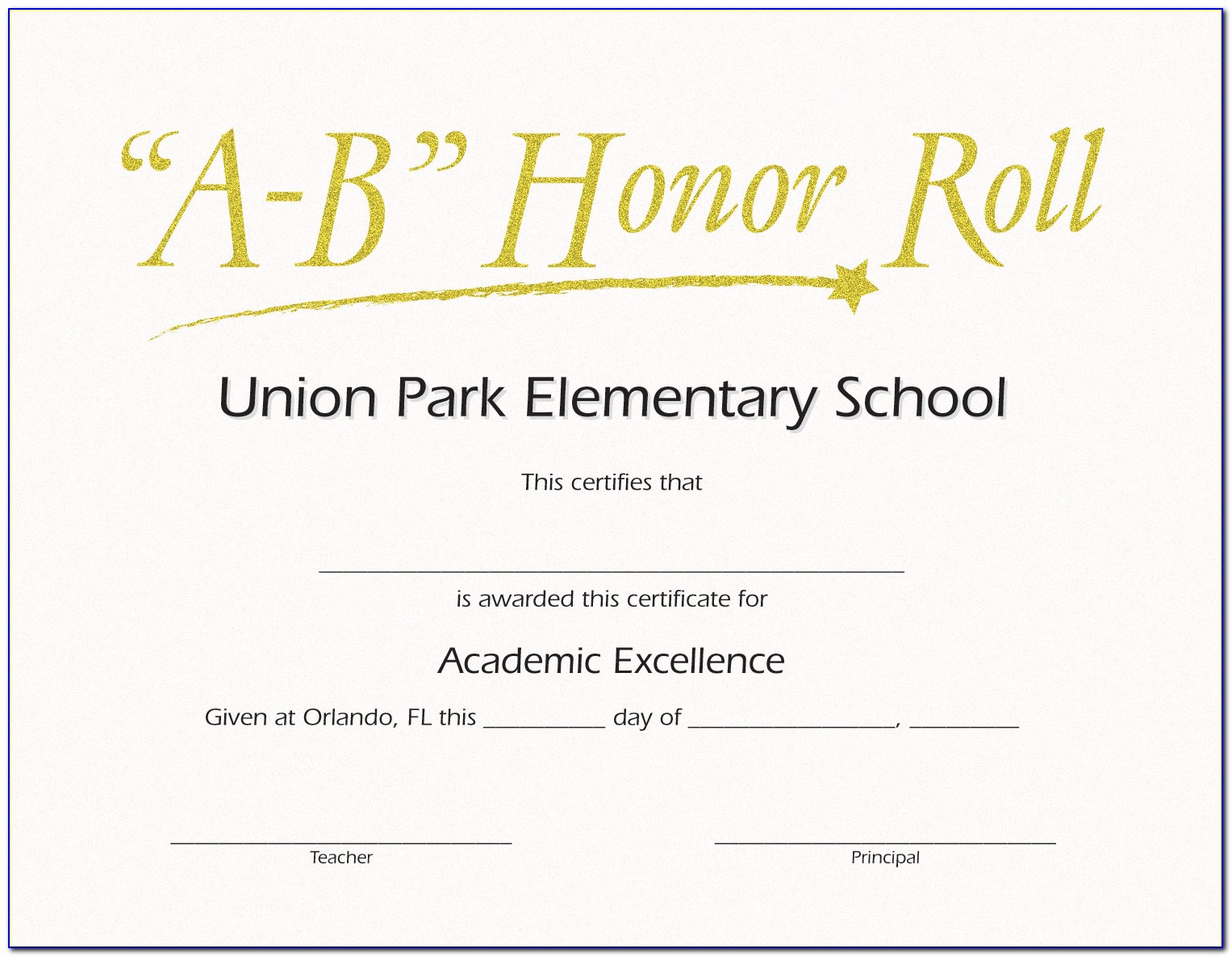 Free Printable Elementary Honor Roll Certificates