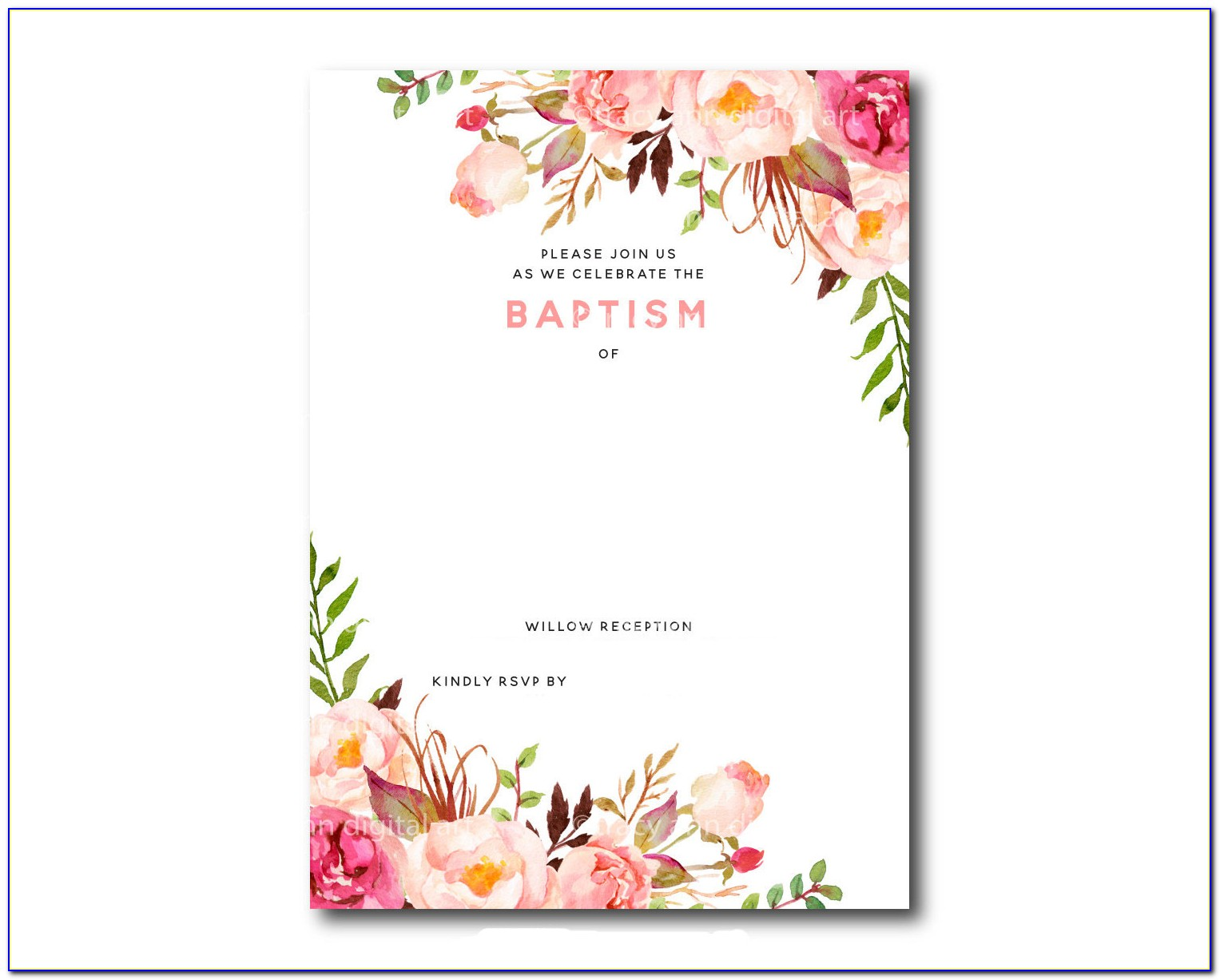 Free Printable Floral Baby Shower Invitations