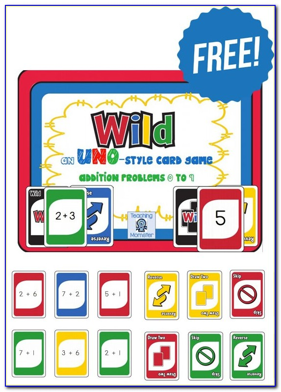 Free Printable Uno Game Cards