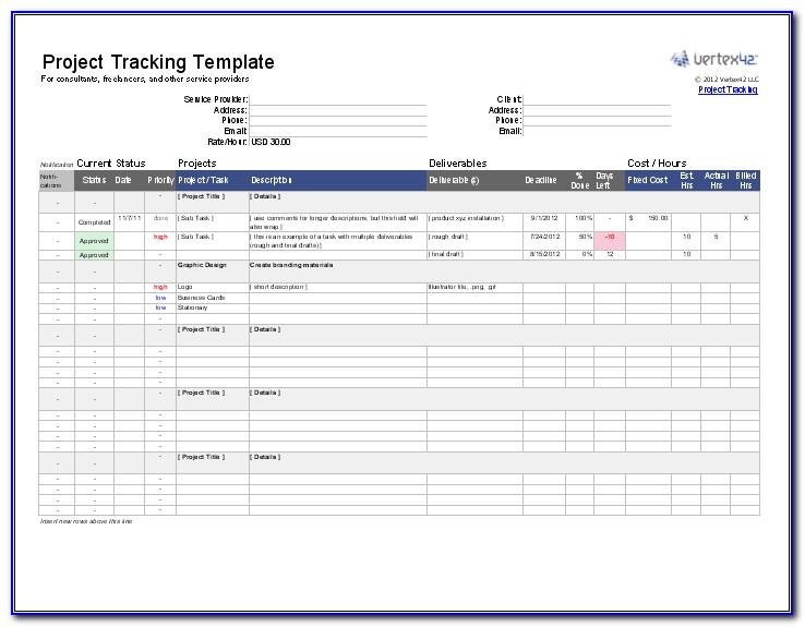 Free Project Task Tracker Excel Template