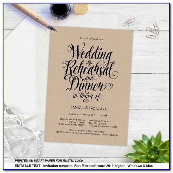 Free Rehearsal Dinner Email Invitations