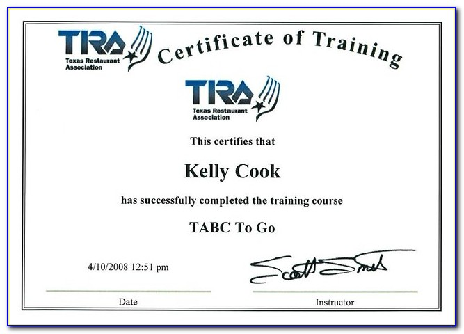 Free Tabc Certification Online Texas