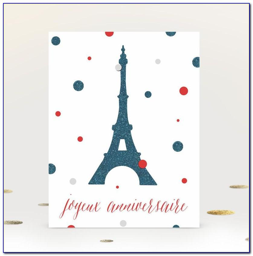 French Birthday Cards Free Printable
