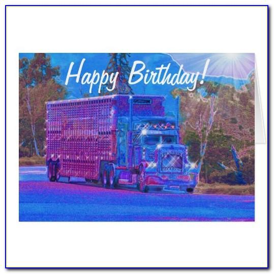 Funny Truck Driver Birthday Cards