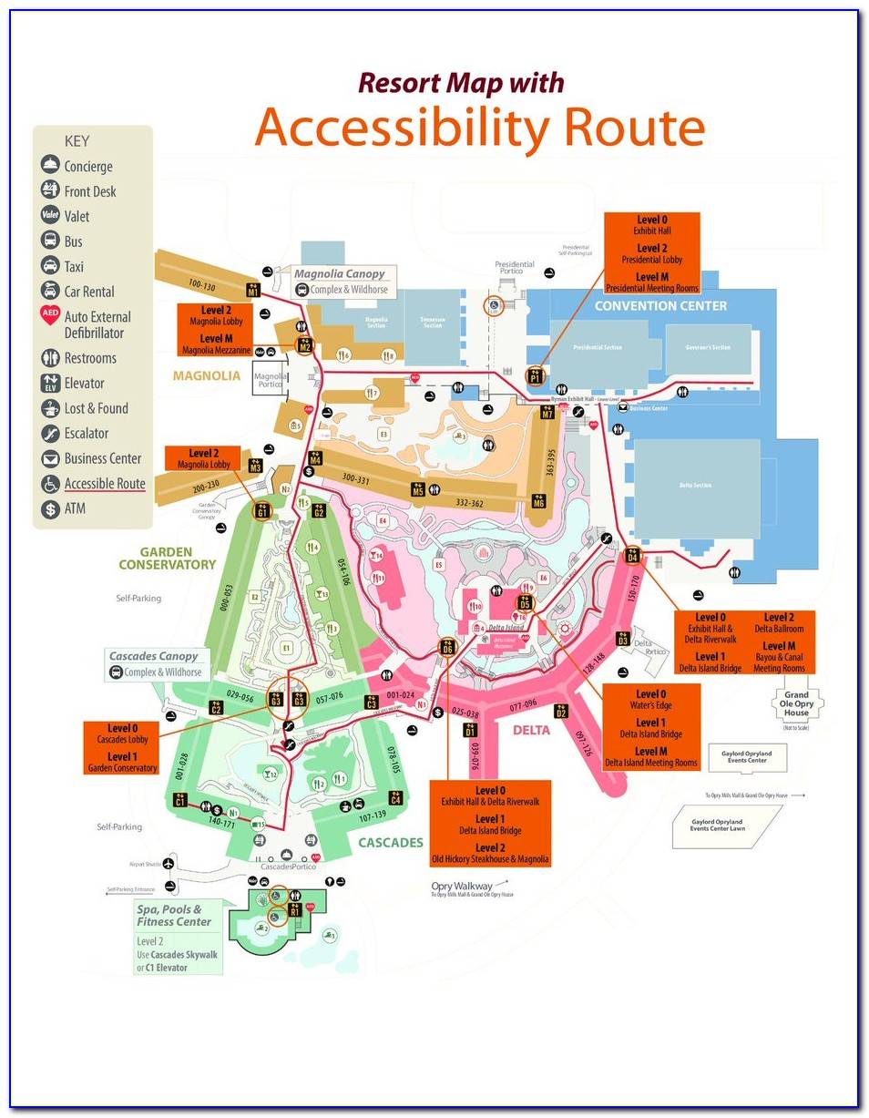Gaylord Opryland Parking Map