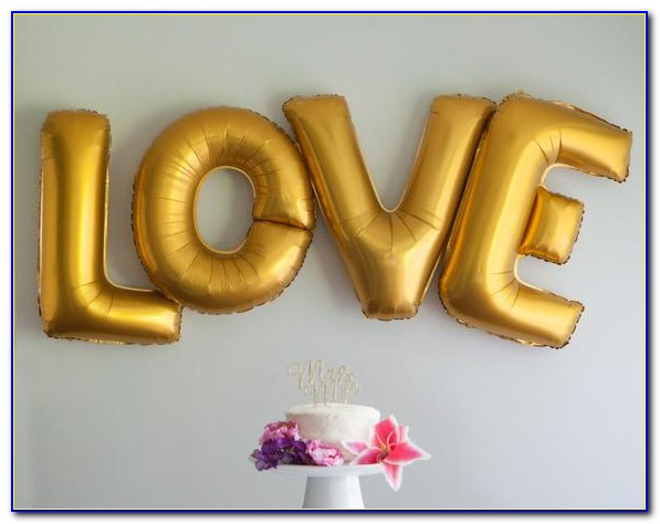 Gold Letter Balloons 40 Inch