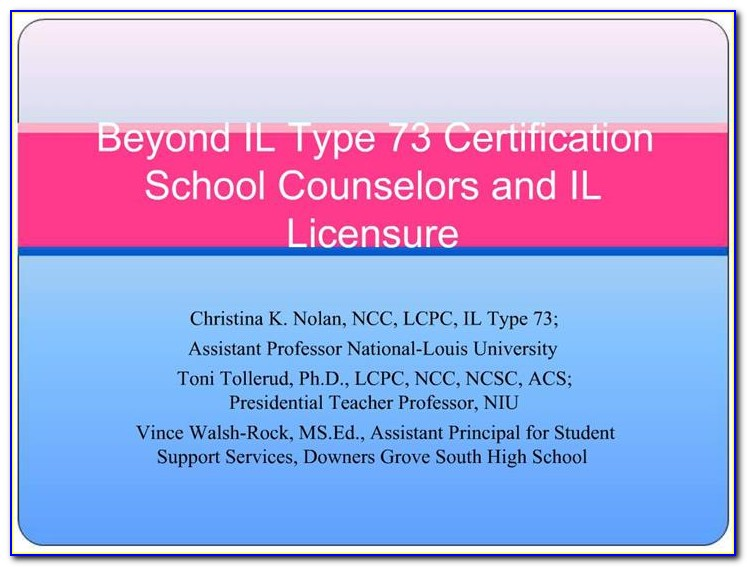 Guidance Counselor Certification Illinois