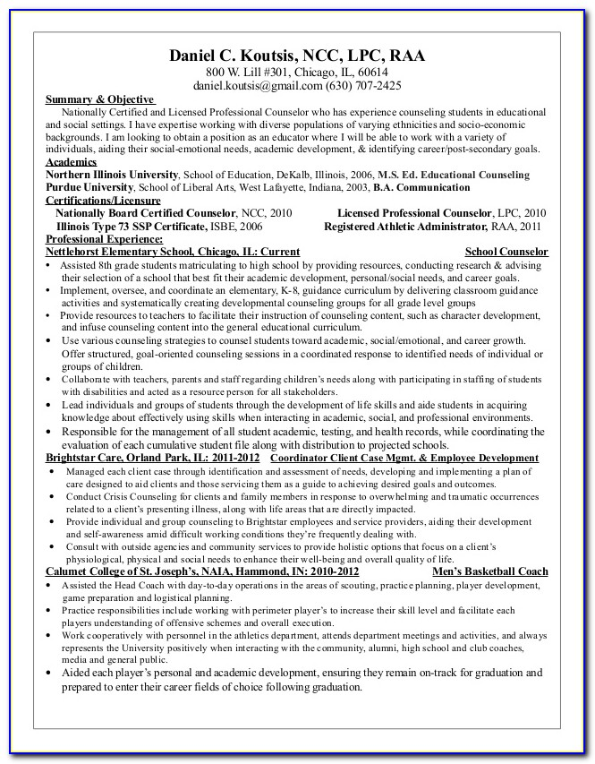Guidance Counselor Degree In Illinois