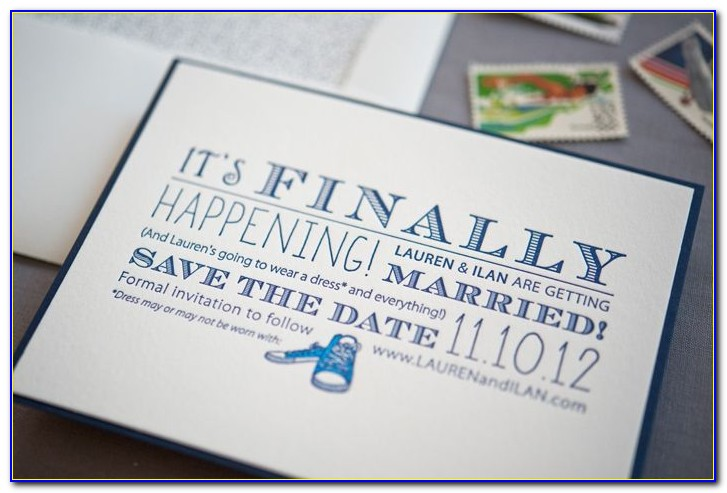 Gus And Ruby Wedding Invitations