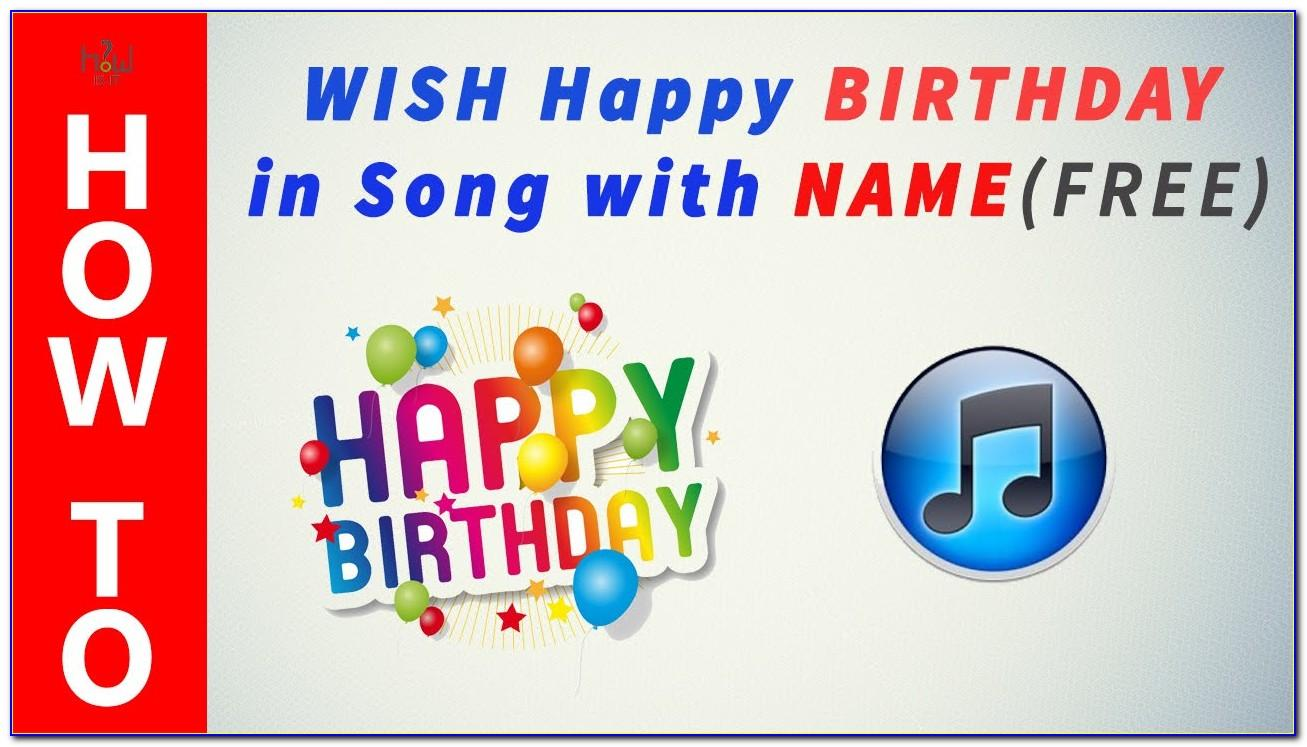 Happy Birthday Song Cards Free