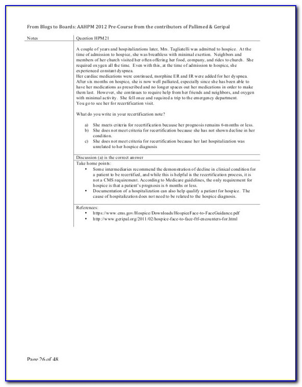 Hospice And Palliative Care Nursing Certification Study Guide