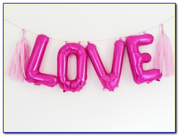 Hot Pink Letter Balloons