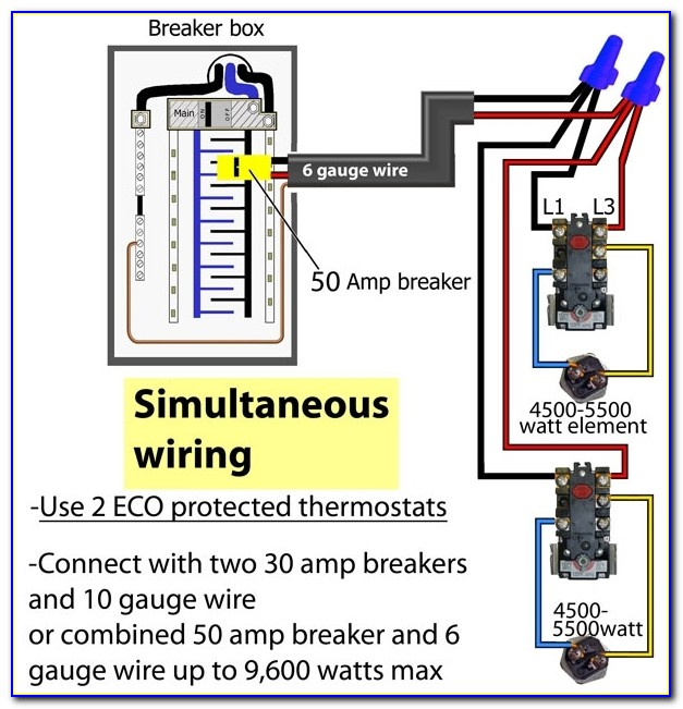 Hot Water Tank Thermostat Wiring Diagram