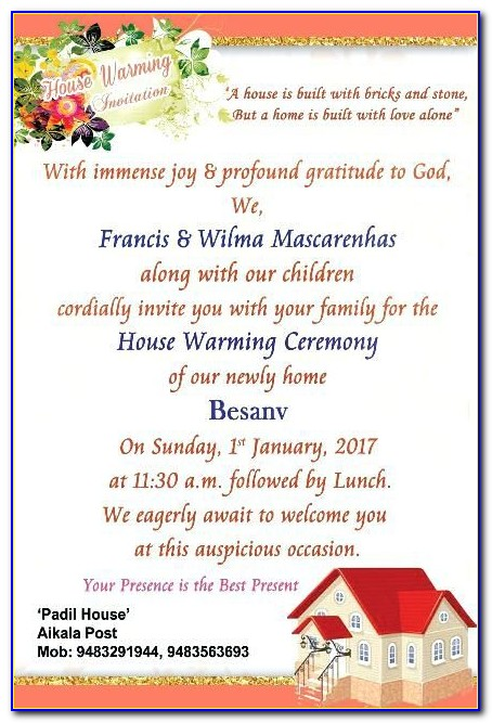 House Warming Invitation Messages
