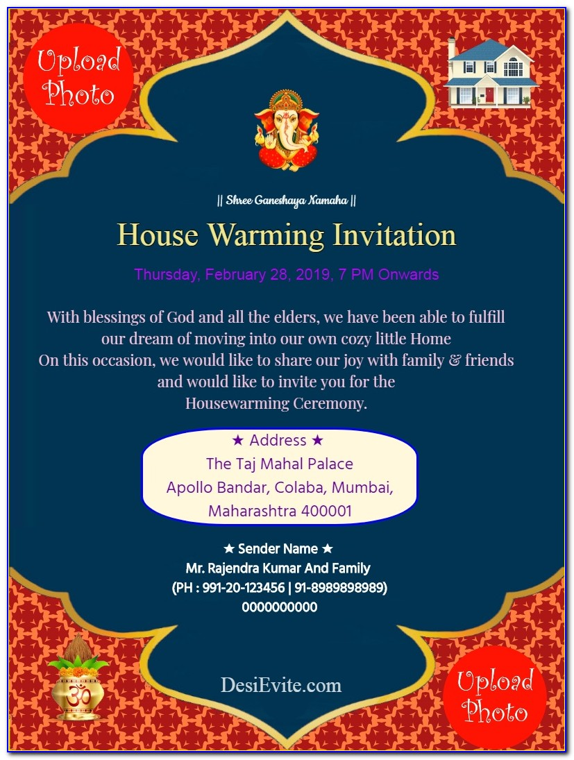 House Warming Invitation Online For Free