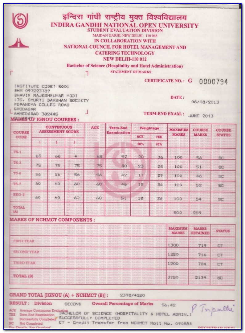 How To Get Ignou Ba Degree Certificate