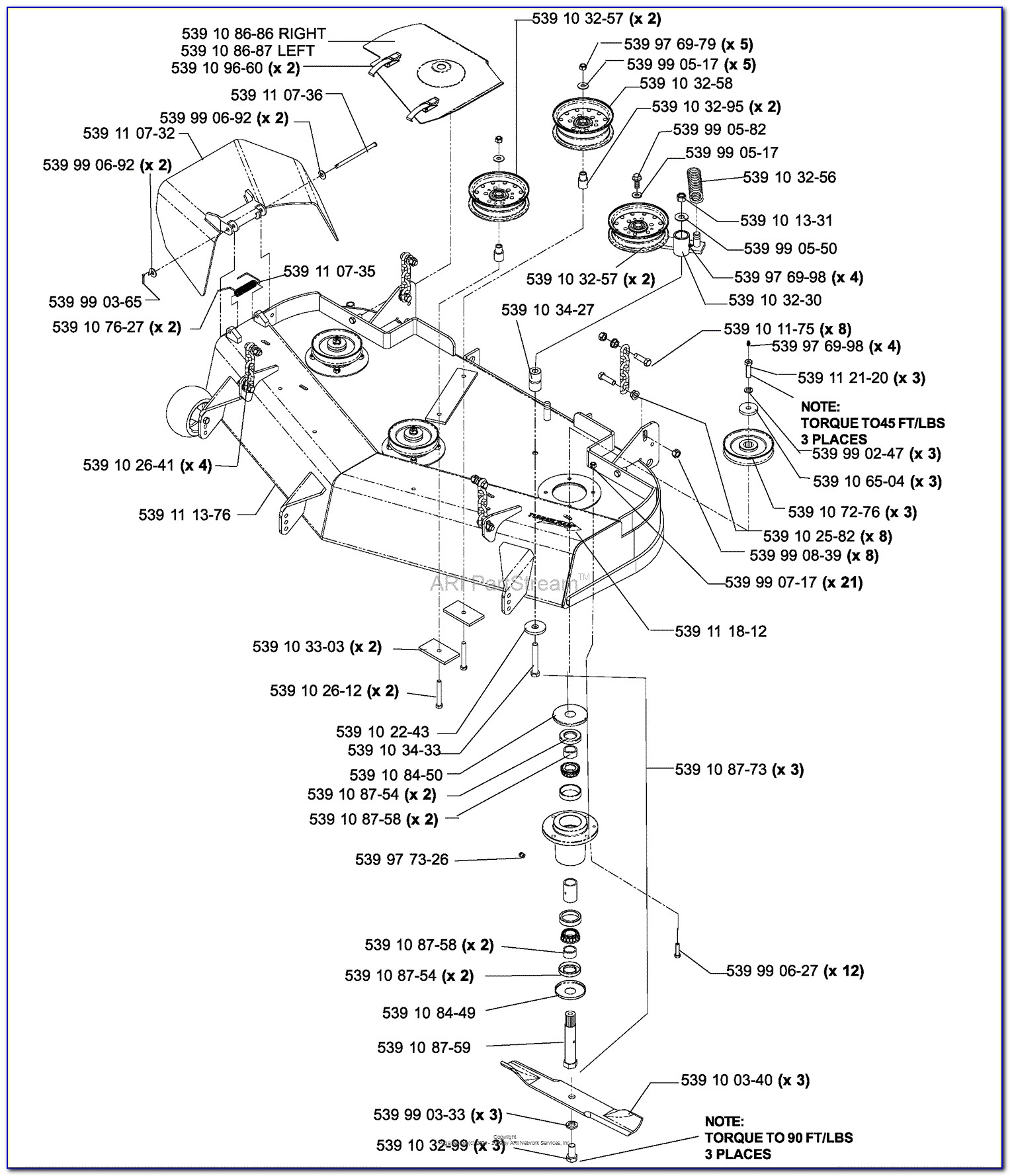 Husqvarna 48 Inch Mower Deck Belt Diagram