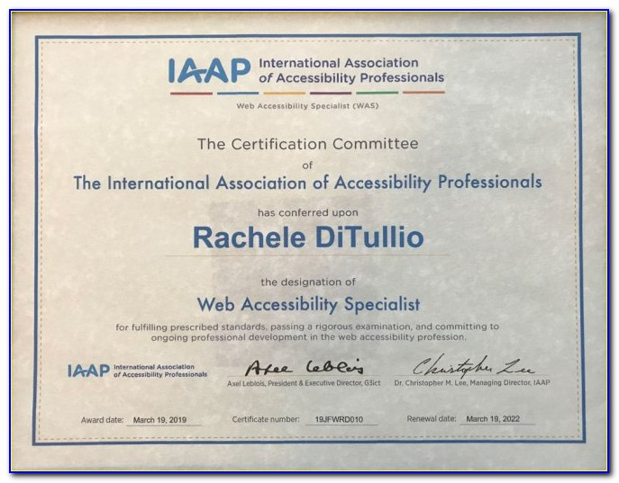 Iaap Certification Accessibility
