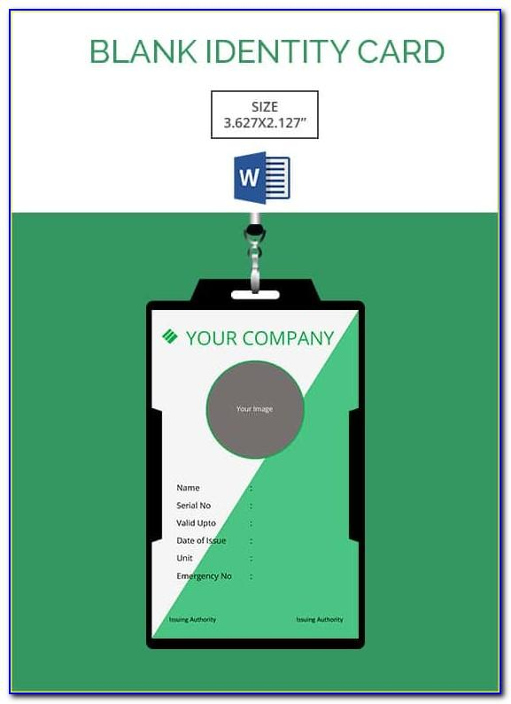 Id Card Template Word Vertical