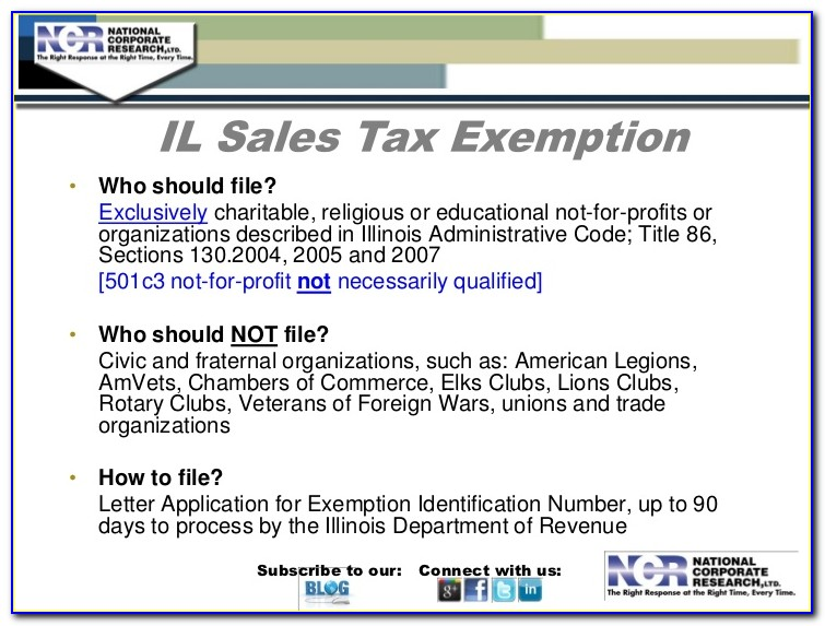 Illinois Sales Tax Exemption Certificate Renewal