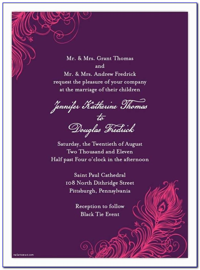 Indian Wedding Invitation Quotes For Friends In English