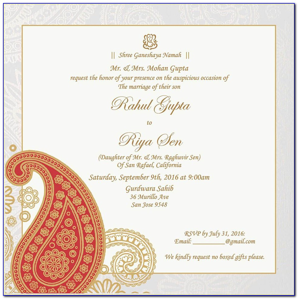 Indian Wedding Invitation Quotes From Parents